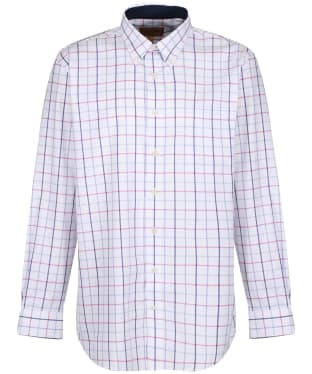 Men's Schoffel Brancaster Shirt - Blue / Pink Check
