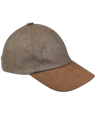 Men's Schoffel Barnsdale Baseball Cap - Loden Green Herringbone Tweed