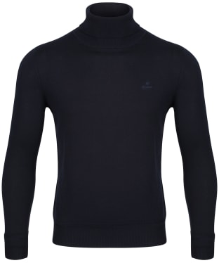 Men's GANT Cotton Turtleneck - Evening Blue