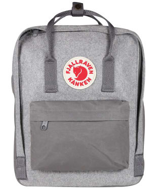 Fjallraven Kanken Re-Wool Backpack - Granite Grey