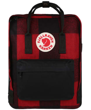 Fjallraven Kanken Re-Wool Backpack - Red / Black