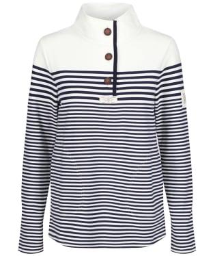 Women's Joules Saunton Sweater - Navy / Cream Stripe