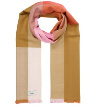 Women's Joules Bridey Scarf - Pink / White Check