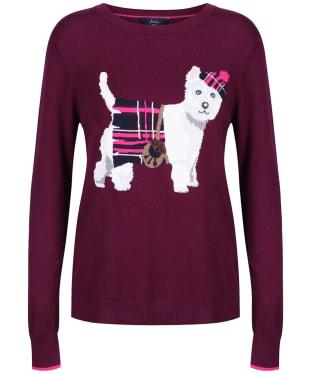 Women's Joules Miranda Crew Neck Jumper - Purple Dog