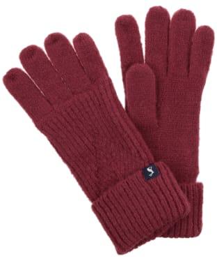 Women's Joules Thurley Gloves - Plum