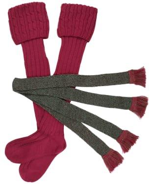 Women's Schoffel Lilymere Socks - Raspberry