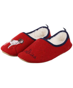 Women's Joules Slippet Slippers - Red Walkies