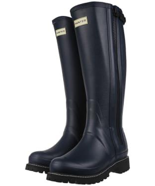 Women's Hunter Original Balmoral Rubber Full Zip Boots - Navy