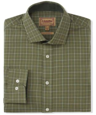 Men's Schoffel Newton Tailored Sporting Shirt - Lovat Check