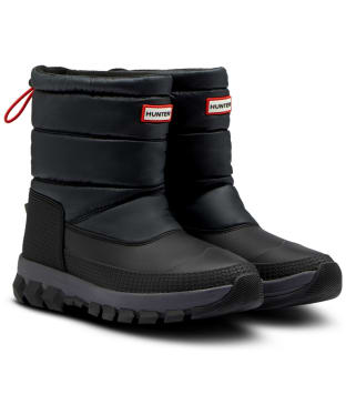 Men's Hunter Original Insulated Snow Short Ankle Boots - Black