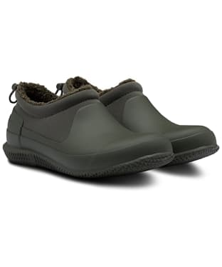 Women's Hunter Original Sherpa Shoes - Dark Olive