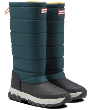 Women's Hunter Original Insulated Tall Snow Boots - Green Jasper / Geysers Grey