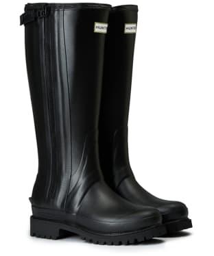 Women's Hunter Original Balmoral Rubber Full Zip Boots - Black