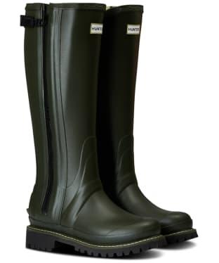 Women's Hunter Original Balmoral Rubber Full Zip Boots - Dark Olive