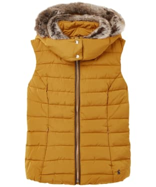 Women's Joules Merrium Quilted Gilet - Golden