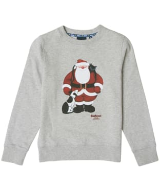 Boy's Barbour Father Christmas Ash Sweat - Grey Marl