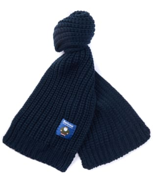 Children's Barbour Father Christmas Knitted Scarf - Navy