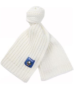 Children's Barbour Father Christmas Knitted Scarf - Winter White