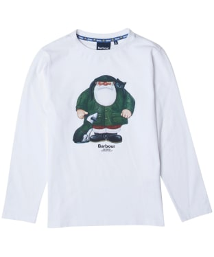 Boy's Barbour Father Christmas Rowan Tee - White
