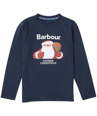 Boy's Barbour Father Christmas Elder Tee - Navy