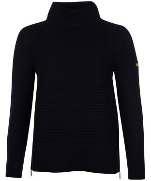 Women's Barbour International Hairpin Knit - Black