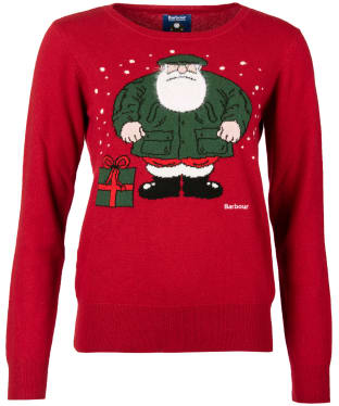 Women's Barbour Father Christmas Harriet Knit - Red