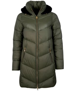 Women's Barbour International Russi Quilted Jacket - Vine