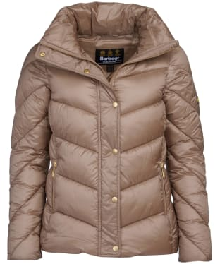 Women's Barbour International Parson Quilted Jacket - Soft Gold