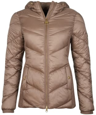 Women's Barbour International Miller Quilted Jacket - Soft Gold