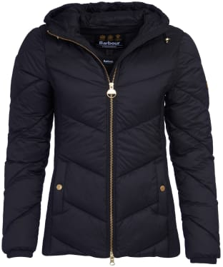 Women's Barbour International Miller Quilted Jacket - Black