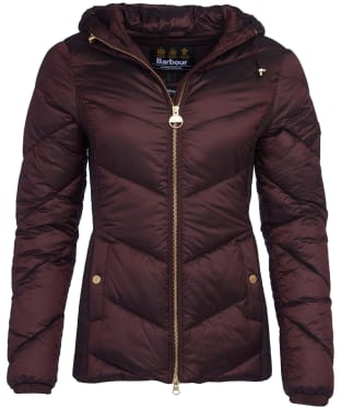 Women's Barbour International Miller Quilted Jacket - Cocoa