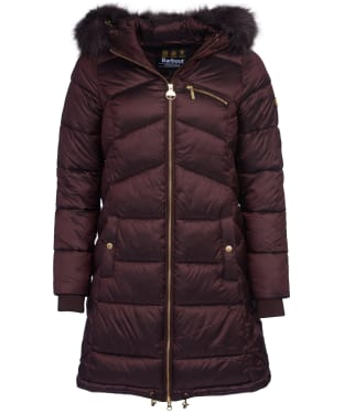 Women's Barbour International Veith Quilted Jacket - Cocoa