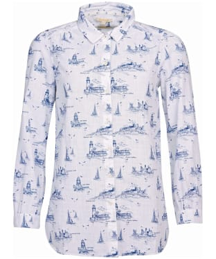 Women's Barbour Seagrass Shirt - Cloud Print