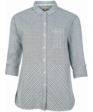 Women's Barbour Longshore Shirt - Cloud / Navy