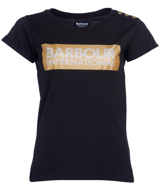 Women's Barbour International Burnout Tee - Black