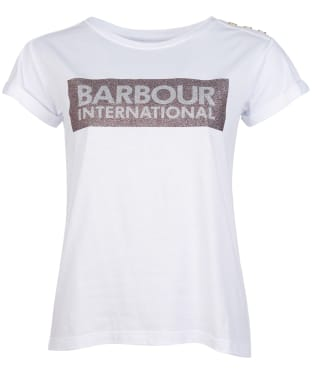 Women's Barbour International Burnout Tee - White