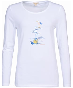 Women's Barbour Seagrass T-Shirt - White