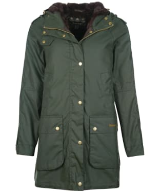 Women's Barbour Austen Wax Jacket - Duffle Green