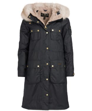 Women's Barbour Stopes Wax Jacket - Navy