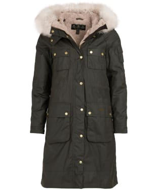 Women's Barbour Stopes Wax Jacket - Olive