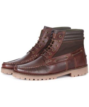 Men's Barbour Port Boots - Mahogany