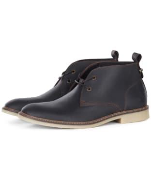 Men's Barbour Nevada Desert Leather Boots - Dark Brown