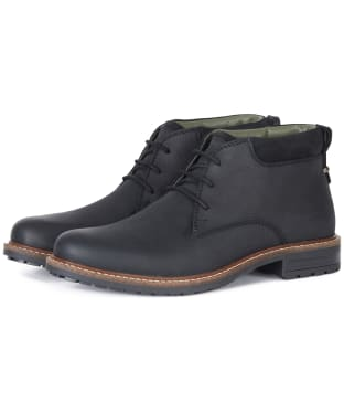 Men's Barbour Barnard Waterproof Chukka Boots - Black