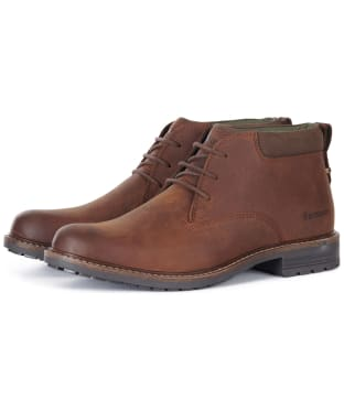 Men's Barbour Barnard Waterproof Chukka Boots - Teak