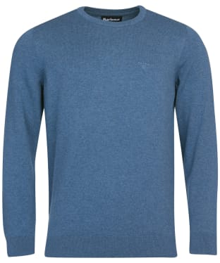 Men's Barbour Pima Cotton Crew Neck Sweater - Chambray Marl