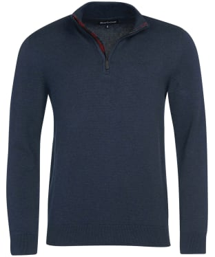 Men's Barbour Avoch Half Zip Sweater - Navy Marl