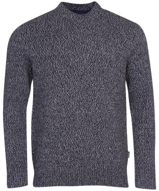 Men's Barbour Sid Crew Sweater - Navy Marl
