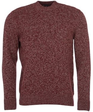 Men's Barbour Sid Crew Sweater - Crimson Marl