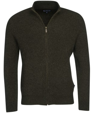 Men's Barbour Bailer Zip Thru Knit - Dark Olive