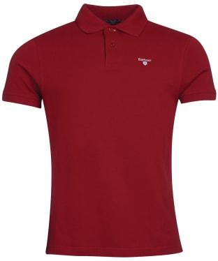 Men's Barbour Tartan Pique Polo Shirt - Crimson